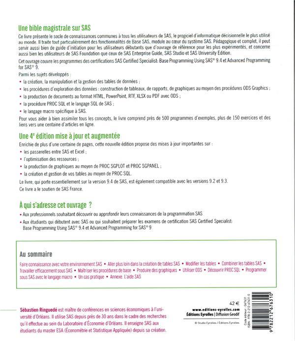 SAS ; introduction au décisionnel : du data management au reporting (4e édition)