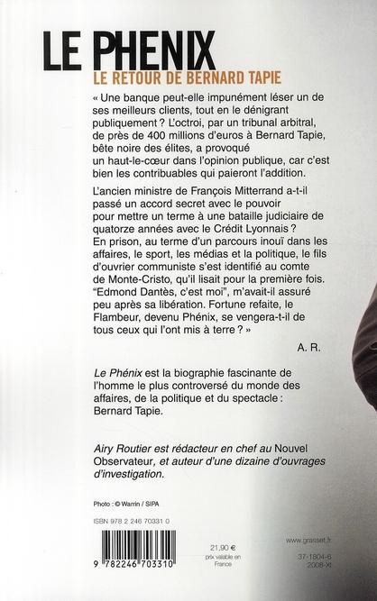 Le phénix ; le retour de Bernard Tapie