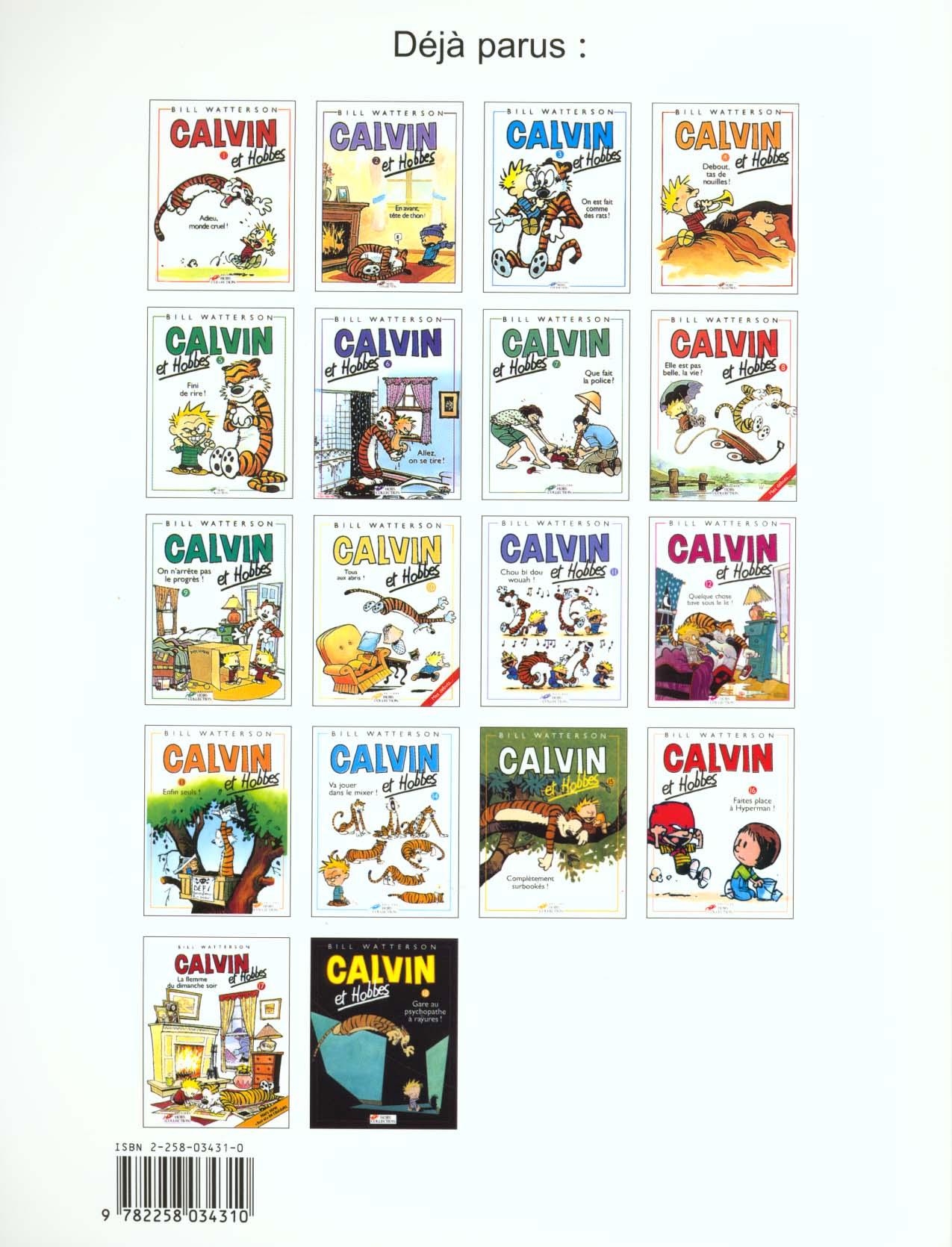 Calvin et Hobbes T.1 ; adieu, monde cruel !