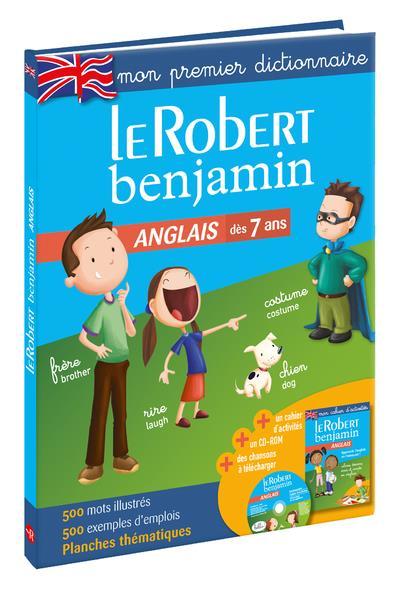DICTIONNAIRE LE ROBERT BENJAMIN  -  ANGLAIS  -  DES 7 ANS (EDITION 2018)