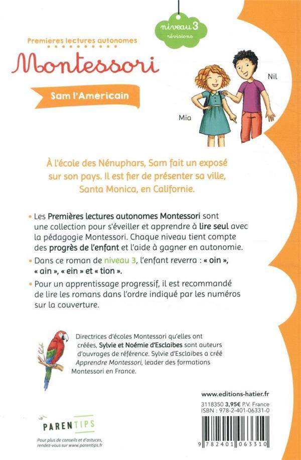 premières lectures autonomes Montessori t.23 ; Sam l'Américain