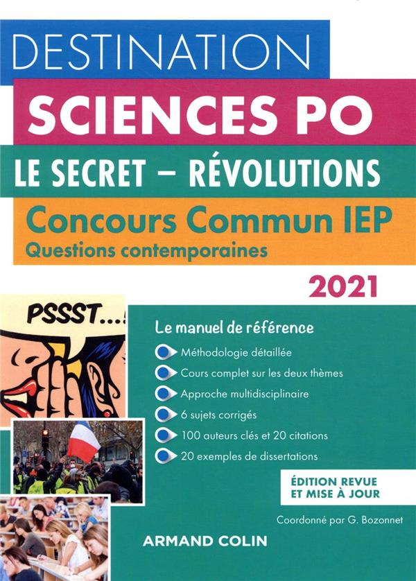 Questions contemporaines ; concours commun iep ; le secret, révolutions