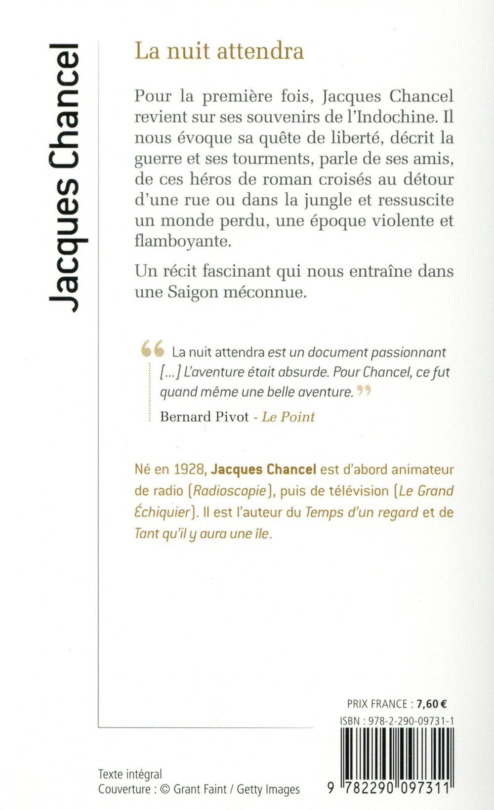 La Nuit Attendra Jacques Chancel J Ai Lu Poche Forum Besancon