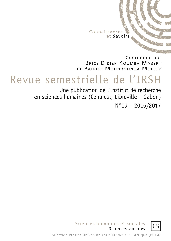 Revue semestrielle de l'IRSH t.19