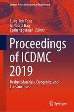 Proceedings of ICDMC 2019  - Lenin Nagarajan - Lung-Jieh Yang - A. Noorul Haq