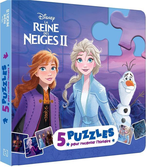 La Reine Des Neiges 2 ; 5 Puzzles Pour Raconter L'Histoire