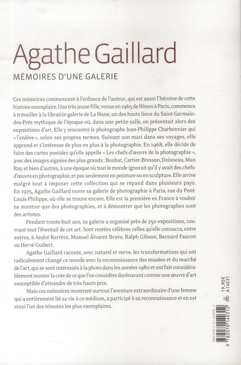 Mémoires d'une galerie