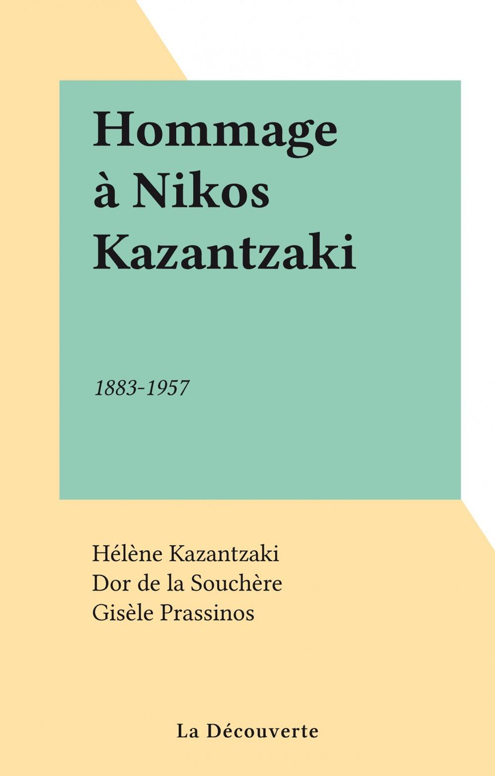 Hommage à Nikos Kazantzaki
