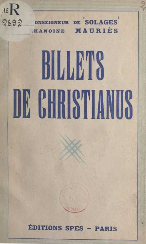 Billets de Christianus