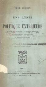 Une année de politique extérieure  - René Moulin