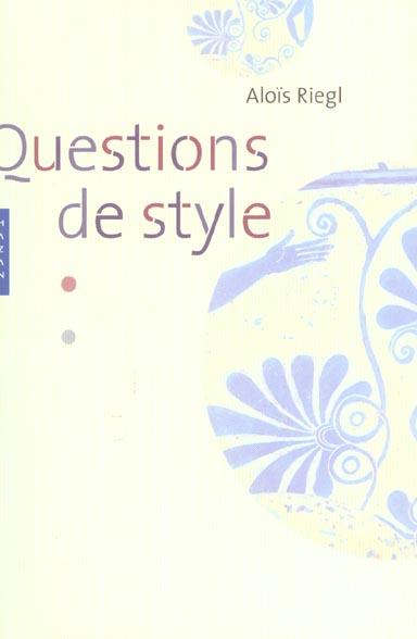 questions de style