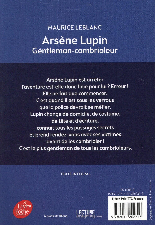 Arsène Lupin ; gentleman-cambrioleur