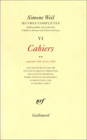 Oeuvres completes (tome 6 volume 2)-cahiers (septembre 1941 - fevrier 1942))