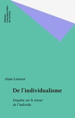 Vente Livre Numérique : De l'individualisme  - Alain Laurent