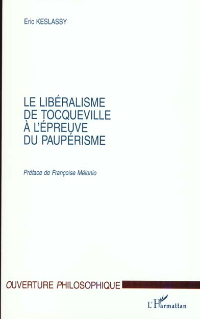 le liberalisme de tocqueville a l'epreuve du pauperisme