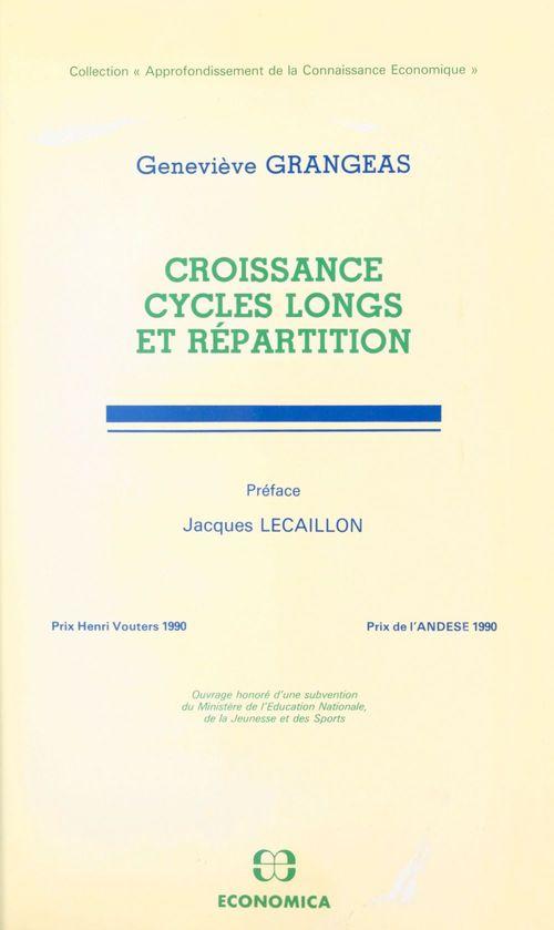 Croissance cycles longs e