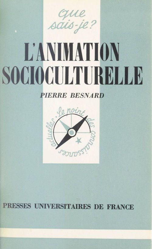 L'animation socioculturelle  - Pierre Besnard
