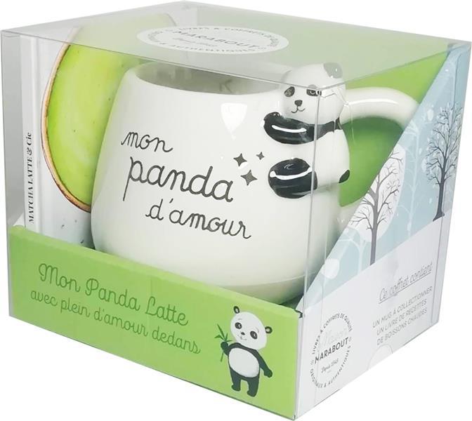 Coffret mug panda ; Matcha latte & cie