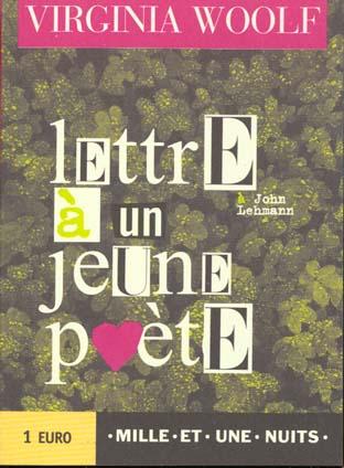 A john lehman: lettre a un jeune poete