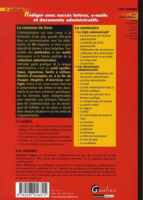 Rédiger avec succès lettres et documents administratifs (4e édition)