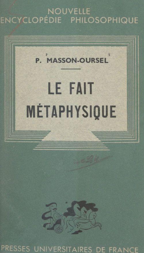 Le fait métaphysique