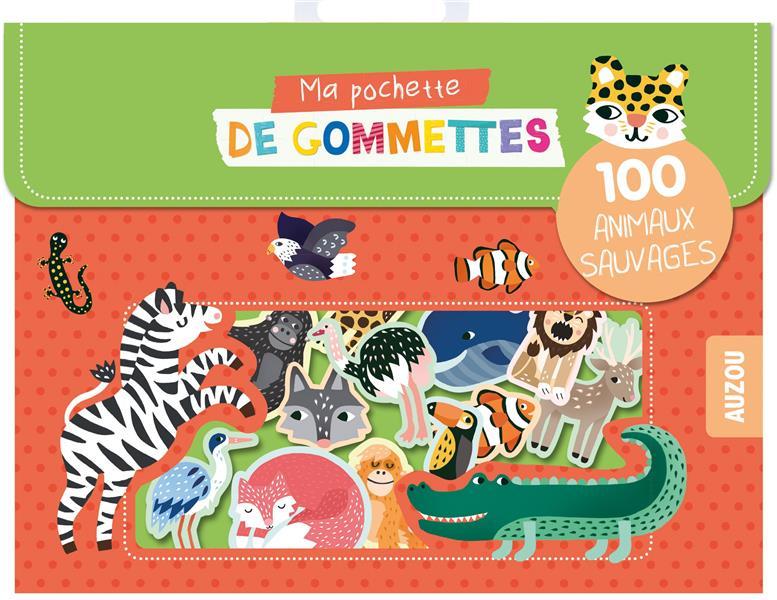 Ma pochette de gommettes ; 100 animaux sauvages
