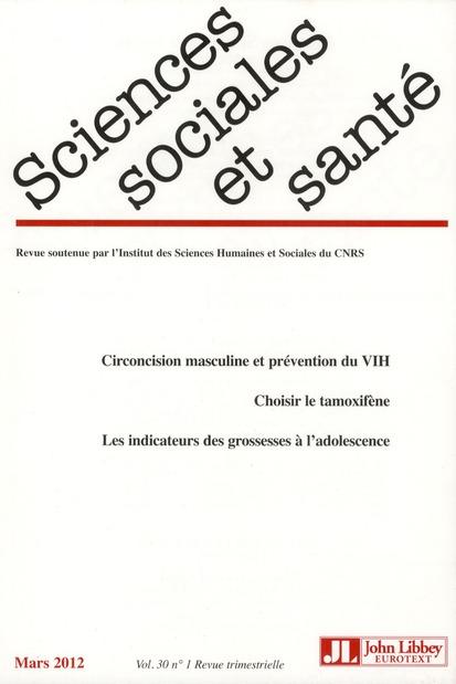 Revue sciences sociales et sante n.1