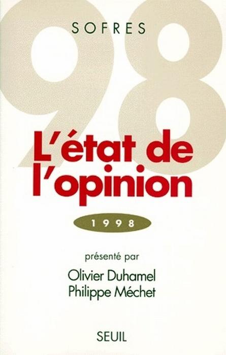 L'état de l'opinion ; 1998