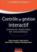 Vente Livre Numérique : Contrôle de gestion interactif  - Anne Rivière - Simon Alcouffe - Marie Boitier - Fabienne Villesèque-Dubus
