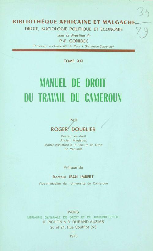 Manuel de droit du travail du Cameroun