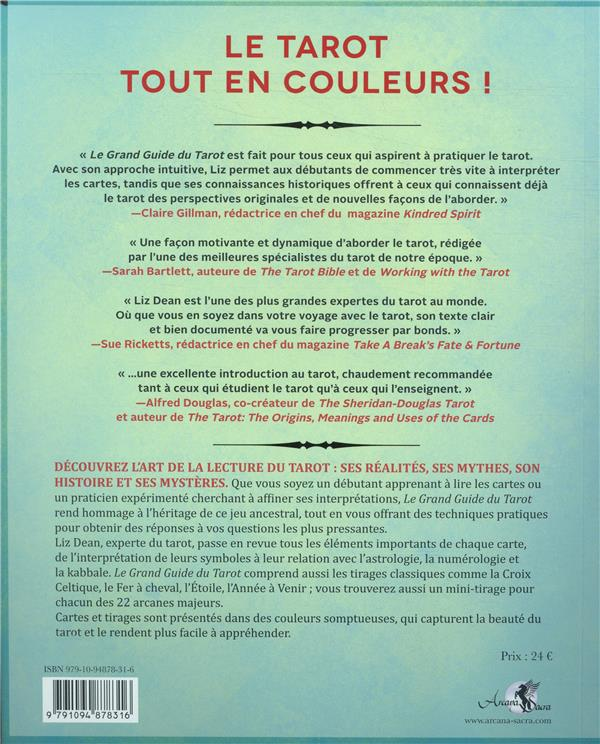 Le grand guide du Tarot ; un guide pour débutants qui révèle les mystères du tarot, des lames et des tirages