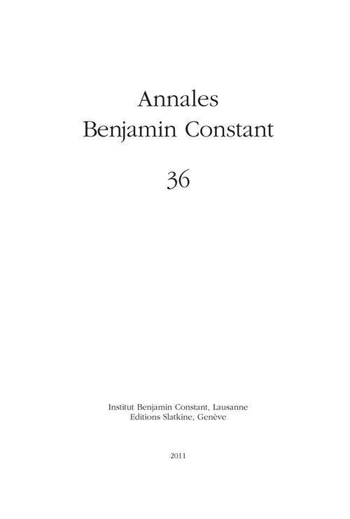 Annales benjamin constant n.36