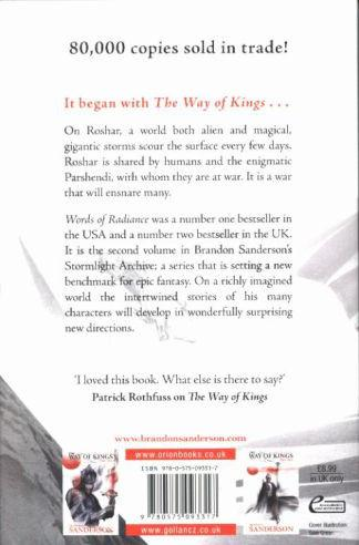 WORDS OF RADIANCE PART ONE - THE STORMLIGHT ARCHIVE BOOK 2