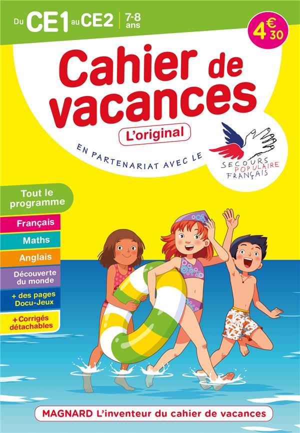 cahier de vacances ; du CE1 au CE2 ; 7/8 ans