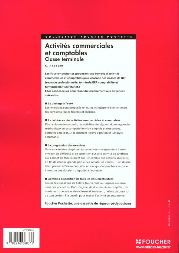Activites Commerciales Et Comptables Terminale Bep Christian Habouzit Foucher Grand Format Librairies Autrement