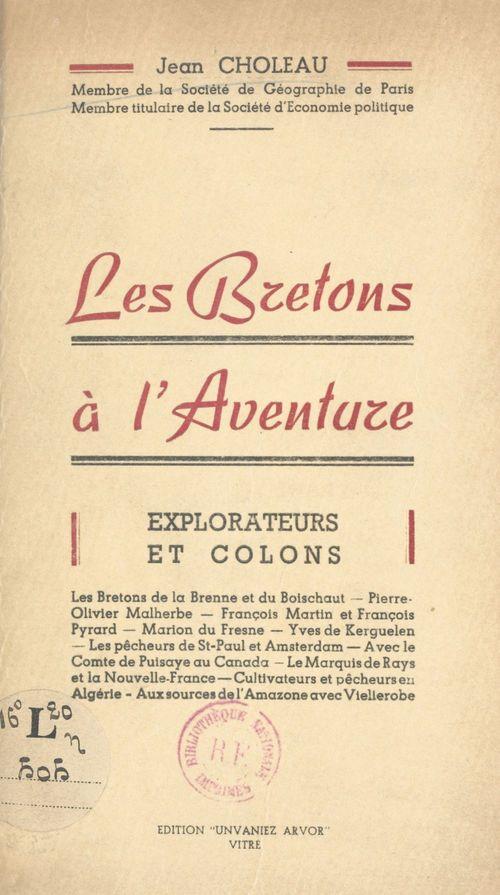 Les Bretons à l'aventure  - Jean Choleau