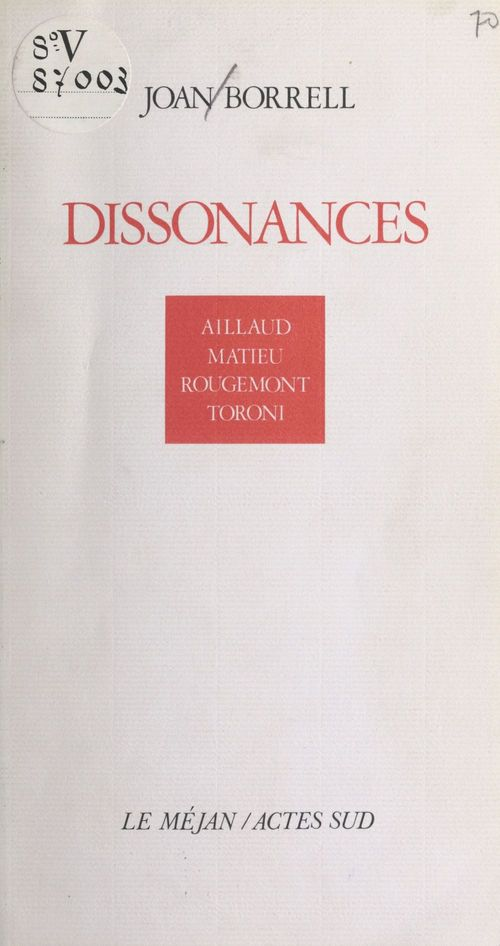 Dissonances