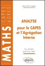 Analyse Pour Le Capes Et L'Agregation Interne Maths Capes Agreg