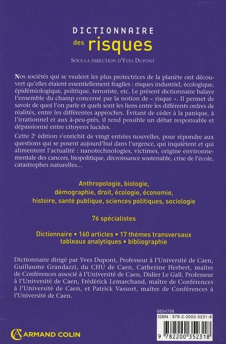 Dictionnaire des risques (2e édition)
