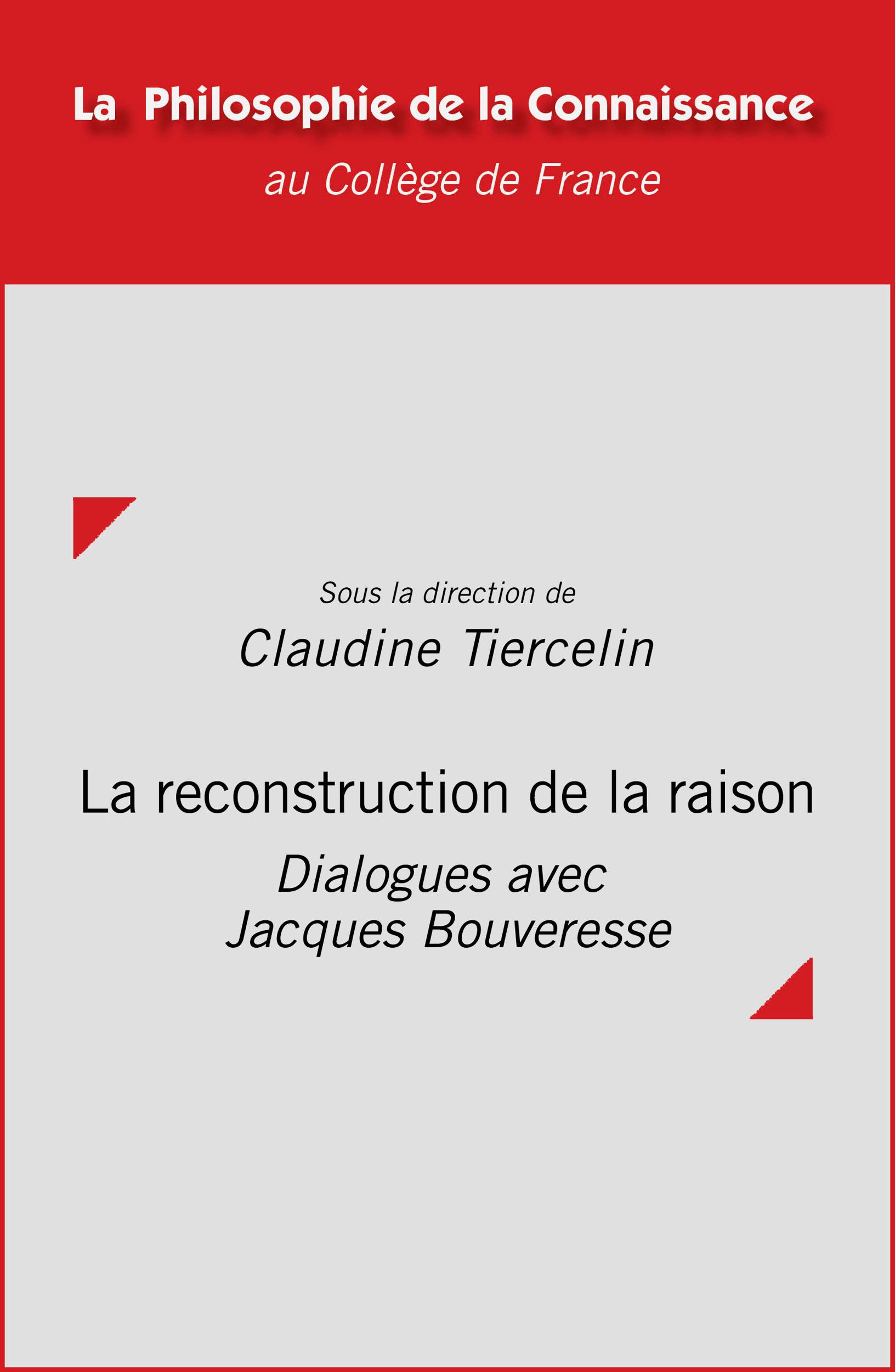 La reconstruction de la raison
