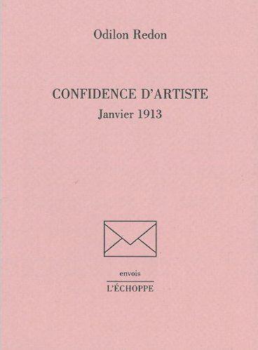 Confidence d'artiste ; janvier 1913