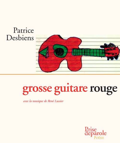 Grosse guitare rouge
