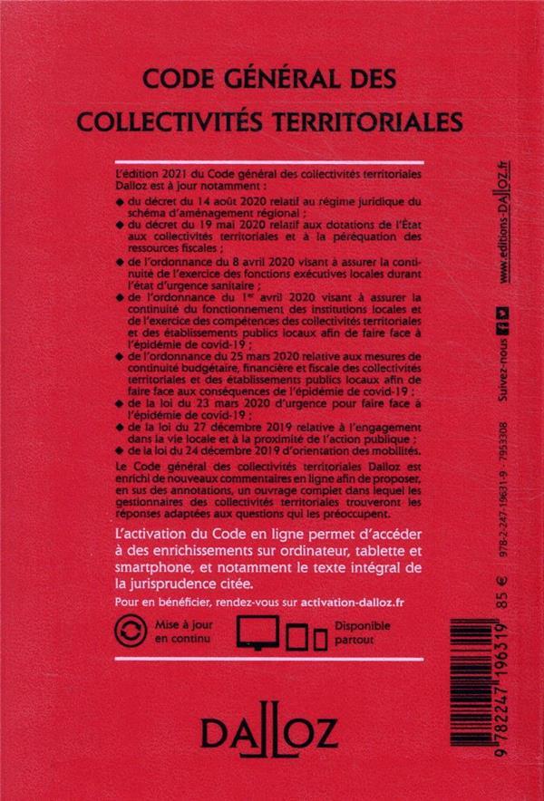 Code général des collectivités territoriales, annoté, commenté en ligne (édition 2021)