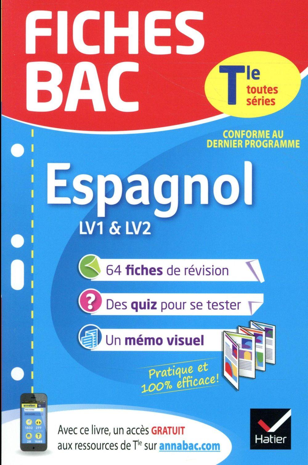 Fiches Bac Espagnol Terminale Lv1 Lv2 Jean Congar Hatier Poche Actes Sud Au Mejan Arles