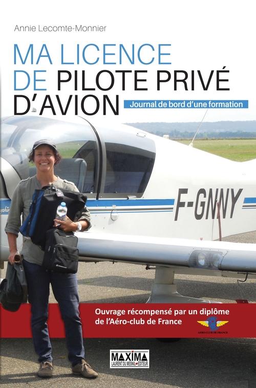 ma licence de pilote privé d'avion ; journal de bord d'une formation