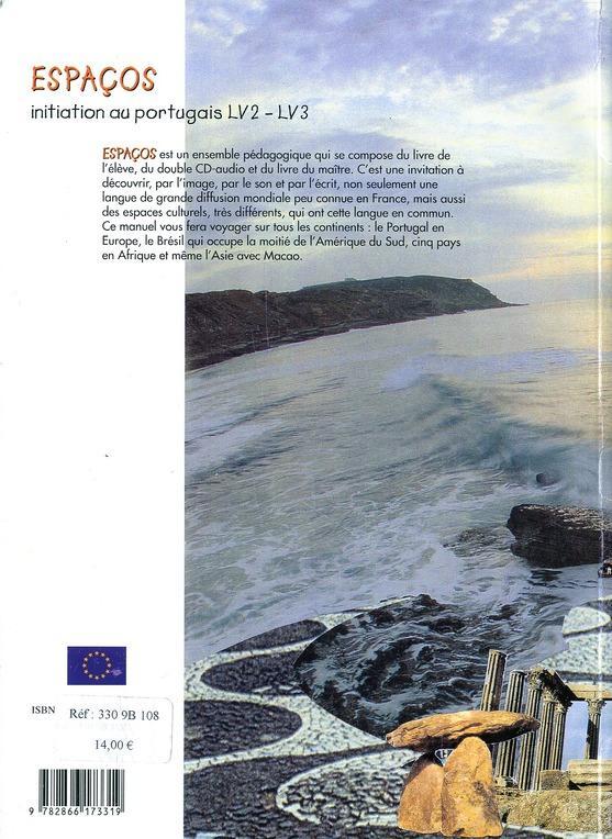 Espaços ; initiation au portugais ; LV2/LV3 ; livre de l'élève