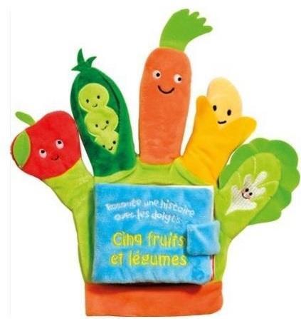 Cinq fruits et légumes ; livre gant
