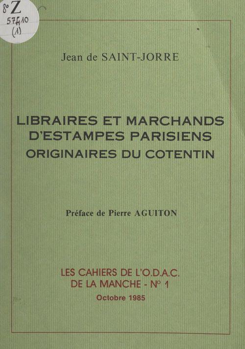 Libraires et marchands d'estampes parisiens originaires du Cotentin