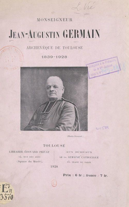 Monseigneur Jean-Auguste Germain