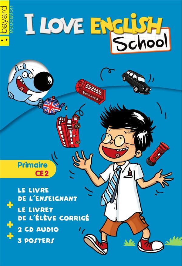 I LOVE ENGLISH SCHOOL ; anglais ; CE2 ; kit enseignant bleu